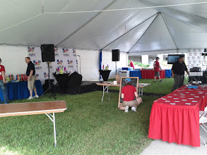 Photo: Setting Up the Tent