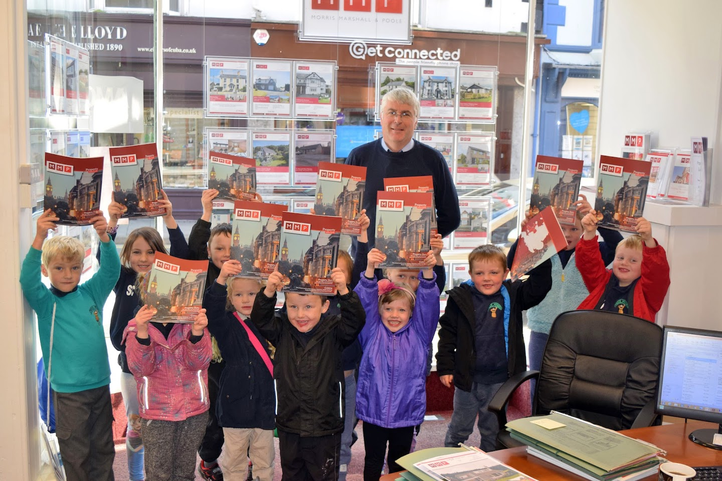 Ceredigion pupils get on the property ladder at Morris, Marshall and Poole, Aberystwyth, Ceredigion
