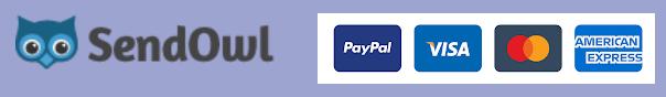 Pay with PayPal, Visa, Mastercard or American Express