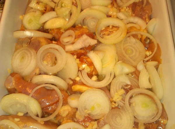 When temp is at 375, remove pan, add onions, extra 3 garlic cloves and...