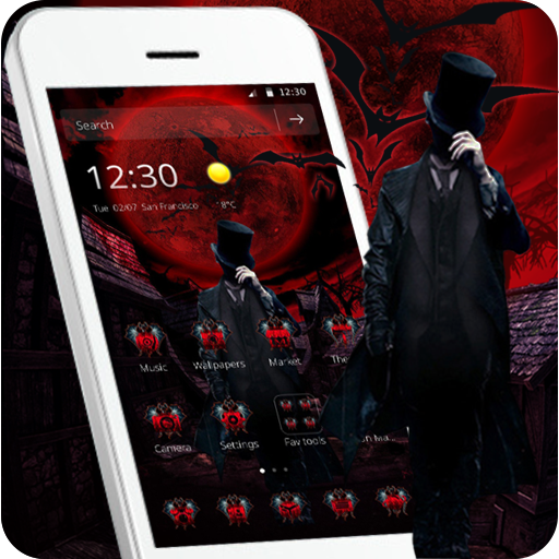 Cool Red Male Vampire On Moon Light Blood Theme