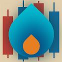 Beleggen in gas icon
