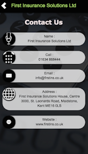 First Insurance Solutions Ltd- screenshot thumbnail