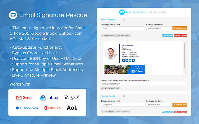 changing signature line in yahoo mail