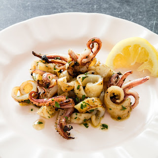 Grilled Squid with Lemon and Garlic Recipe