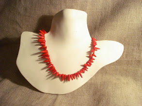 Photo: <BEREHYNYA> {Great Goddess Protectress} unique one-of-a-kind statement jewellery by Luba Bilash ART & ADORNMENT  Red spike coral, sterling silver SOLD/ПРОДАНИЙ