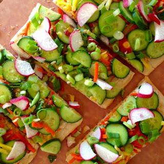 5 Minute Veggie Flatbread