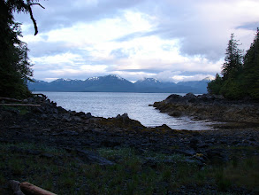 Photo: View across Revillagigedo Channel from my campsite.