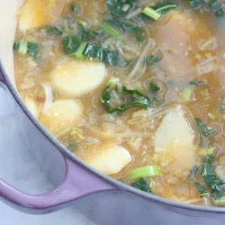 Candice Kumai's Day-Off Diet Cleansing Parsnip and Leek Soup