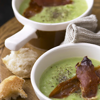 Pea Soup with Crispy Prosciutto