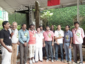 Photo: Thamil felicitates the T-Team for the terrific arrangements made and all the hardwork they have put in!