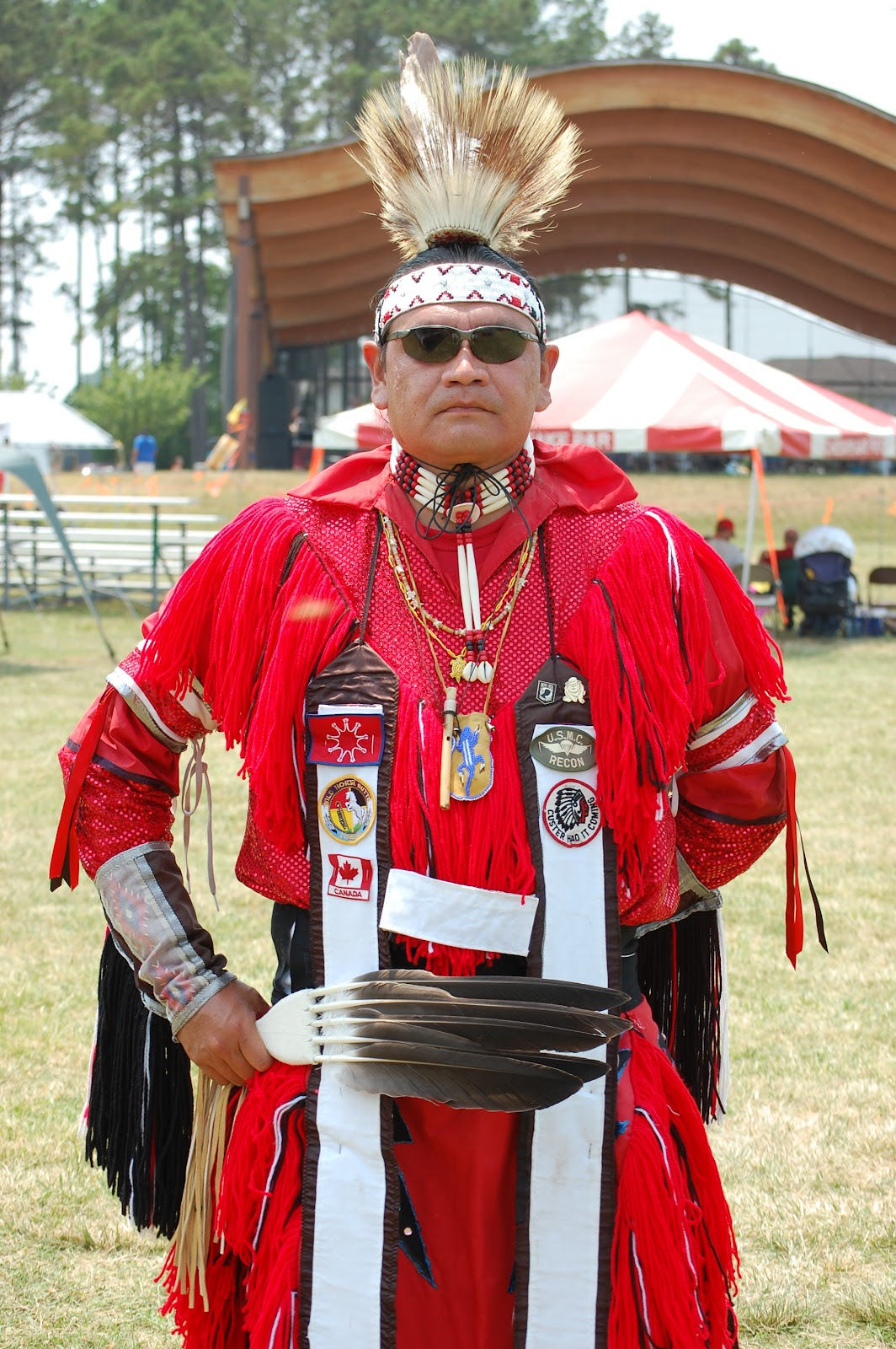Native Veteran and Grass Dancer Danny Garneaux - Photo: Vincent Schilling