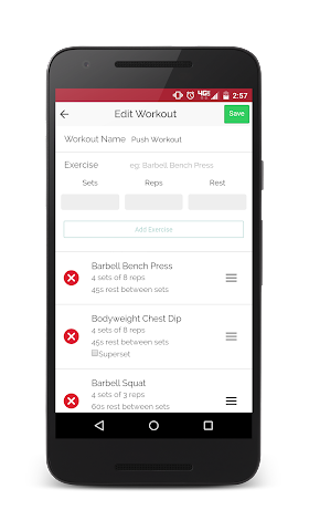 android Trainer - Workout Tracker Screenshot 1