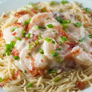 Spicy Shrimp Fettuccine Alfredo