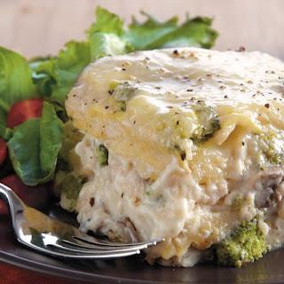 Slow-Cooker Chicken Broccoli Lasagna.