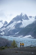 """Photo: Glacier as seen near the Tashenshini River. The """"Tat"""" flows out of Yukon, CA, through British Columbia and empties into Glacier Bay National Park in Alaska, US."""