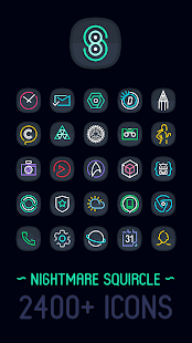 Nightmare Squircle ~ Dark S8/Note8 Icon Pack Screenshot