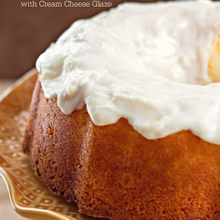 Pineapple Pound Cake With Cream Cheese Glaze.