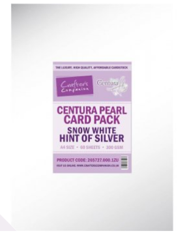 Crafters Companion Centura Pearl A4 50/Pkg - Hint of Silver