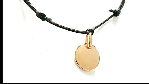 Bracelet petite médaille en plaqué or