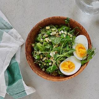 Three Pea Salad with Feta and Mint Recipe
