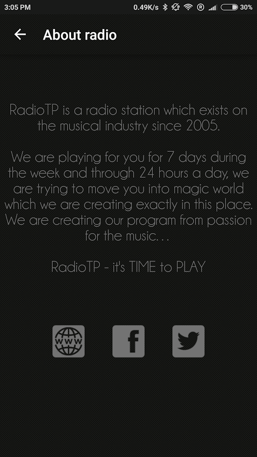 Radio RadioTP.pl- screenshot