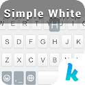 Simple White Keyboard Theme icon