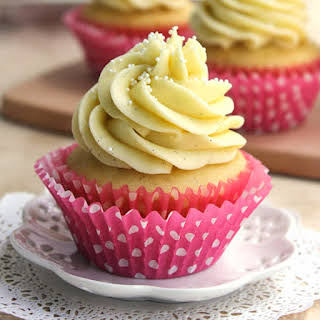 Easy to Make Perfectly Moist Vanilla Cupcakes.