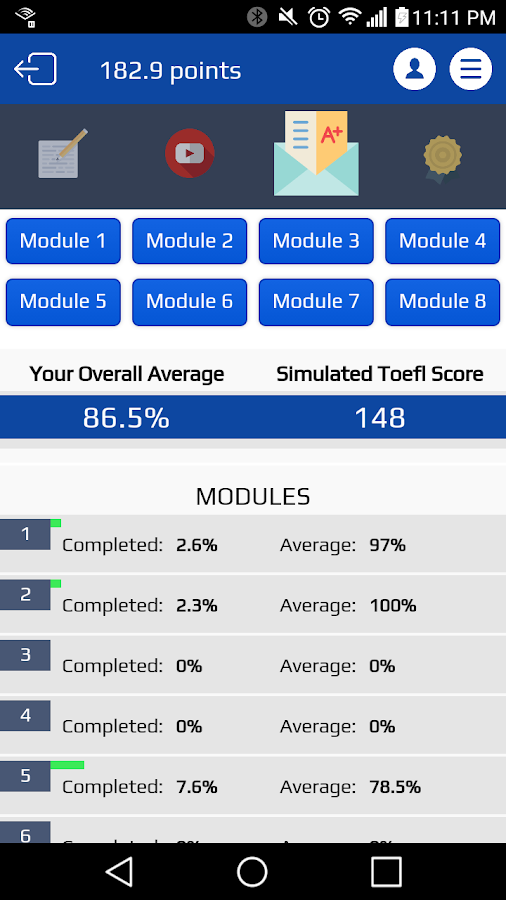 TEX Practice for the TOEFL®- screenshot