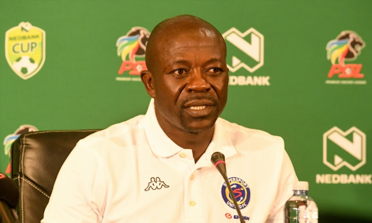 Kaitano Tembo (coach) of Supersport United during the SuperSport United FC press conference at PSL Headquarters on January 24, 2019 in Johannesburg, South Africa.