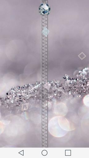 Diamonds Zipper Lock Screen