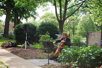 Photo: David Commanday, guest performer at the Reagan Memorial 2013, Eureka College