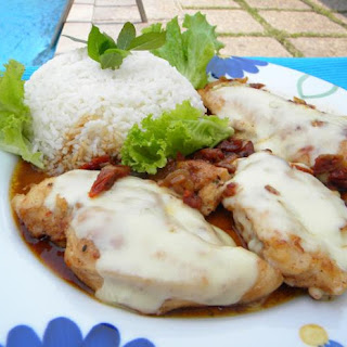 Chicken Cutlets with Sun-dried Tomatoes and Cheese
