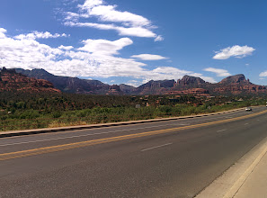Photo: We took a scenic western, round-about route from Sedona to Phoenix