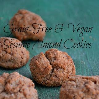 Grain-Free Vegan Sesame Almond Cookies