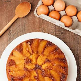Apple-Gingerbread Upside Down Cake.