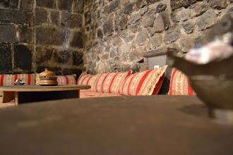 Photo: Downward inside the old walls