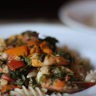 Prawn and Heirloom Tomato Pasta.