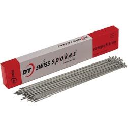 DT Swiss Champion 2.0 x 295mm silver spokes w//Npls-100