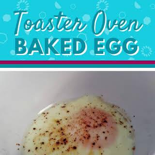 Toaster Oven Baked Egg.