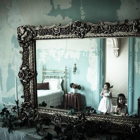 Dole Haunted Mansion by Jess Anderson - Babies & Children Children Candids ( old house, girls, staircase, children, kids )