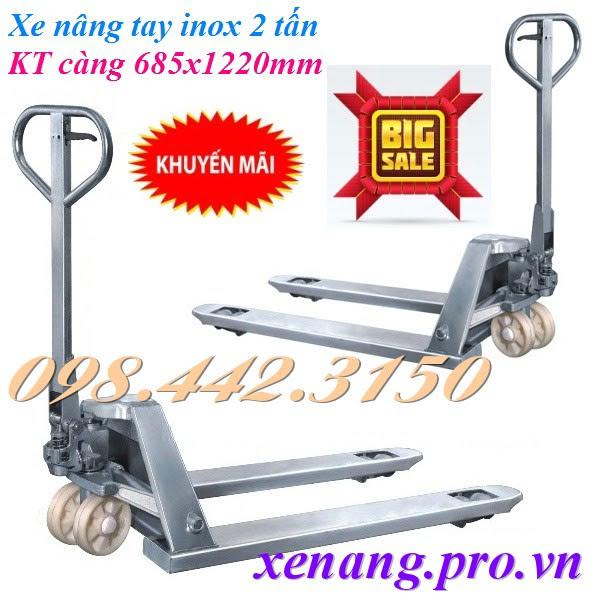 Xe nâng tay inox 2000kg