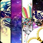 Hipster Tiger Lock Screen
