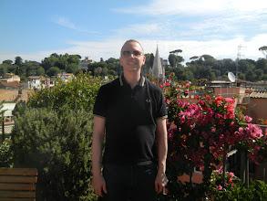 Photo: Chris, rooftop garden, Hotel Mozart, Roma