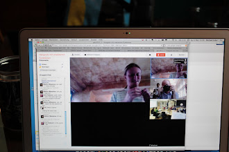 Photo: Getting together via google hangout.