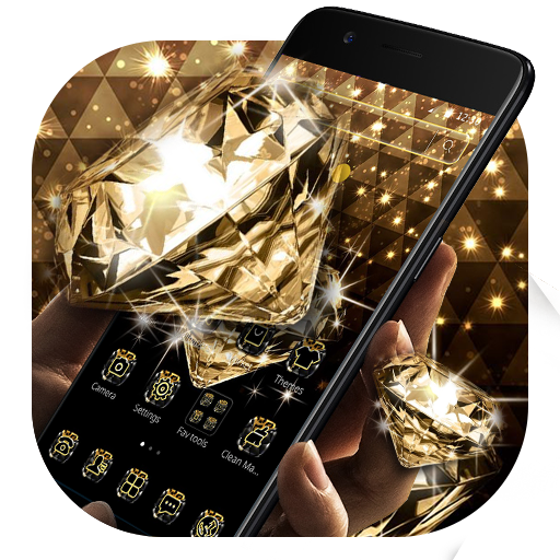 Gold Glitter Sparkling Diamond Theme Android APK Download Free By Abby Theme Center