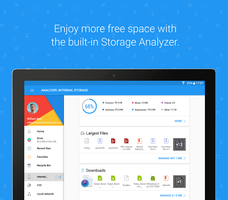 File Commander - Manager, Explorer and FREE Drive Screenshot 17