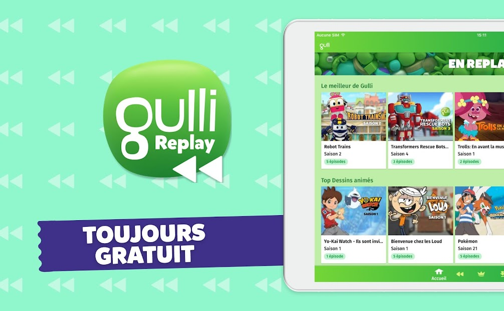 Gulli – L'appli de dessins animés Android App Screenshot