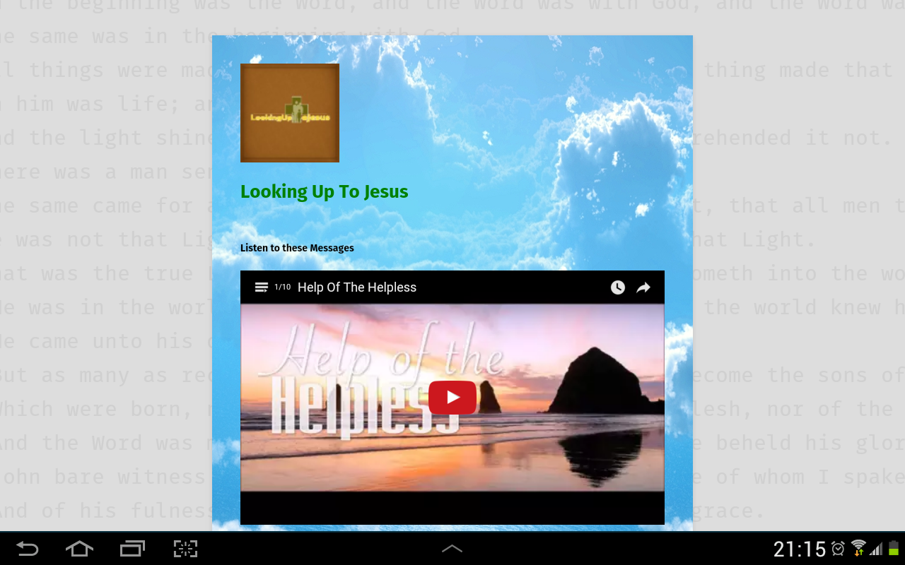 Looking Up To Jesus- screenshot