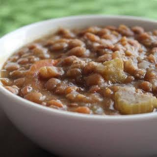 Crock Pot Lentil Soup.